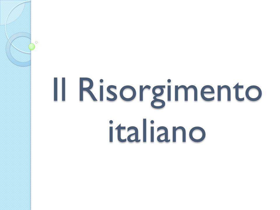 1848-1849 in Italia e la Prima Guerra di indipendenza Riforme costituzionali e ideali liberali (no idea di unità nazionale) Moti 1820- 1831 Idea ITALIA UNITA Idea ITALIA INDIPENDENTE Tra 1830- 1848