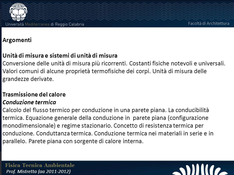 LABORATORIO DI COSTRUZIONI 25 FEBBRAIO 2011 Argomenti Unità di misura e sistemi di unità di misura Conversione delle unità di misura più ricorrenti.
