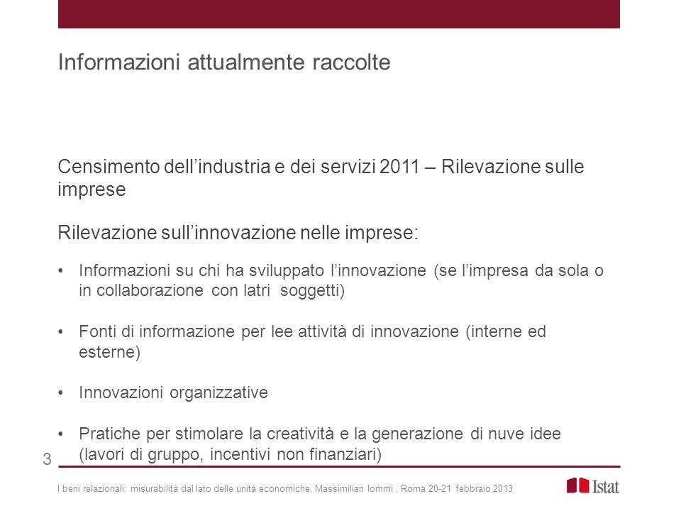 Censimento dellindustria e dei servizi 2011 – Rilevazione sulle imprese Rilevazione sullinnovazione nelle imprese: Informazioni su chi ha sviluppato l