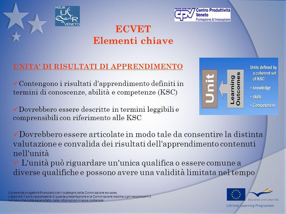 Il presente progetto è finanziato con il sostegno della Commissione europea. Lautore è il solo responsabile di questa presentazione e la Commissione d