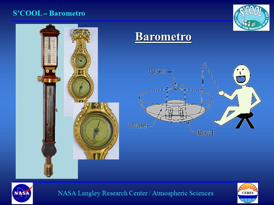 9 SCOOL – Barometro NASA Langley Research Center / Atmospheric Sciences Barometro