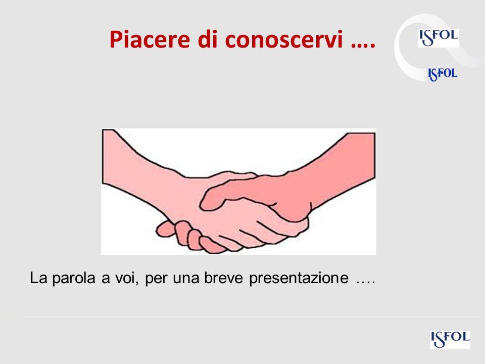 5 Piacere di conoscervi …. La parola a voi, per una breve presentazione ….