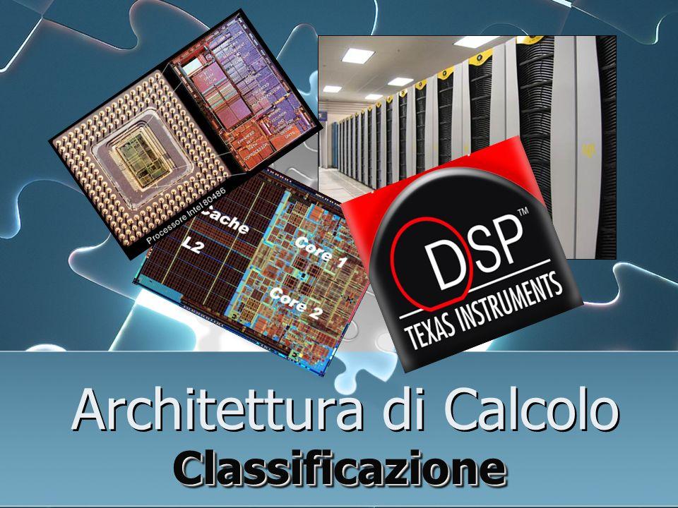 Architettura di Calcolo ClassificazioneClassificazione