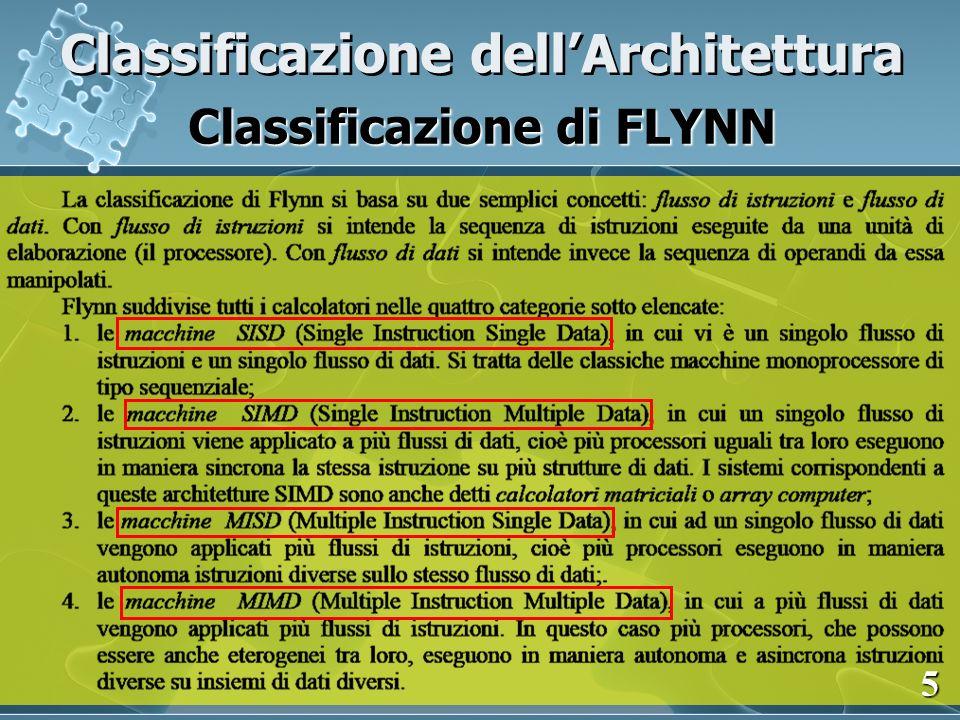 Classificazione dellArchitettura Classificazione di FLYNN 6