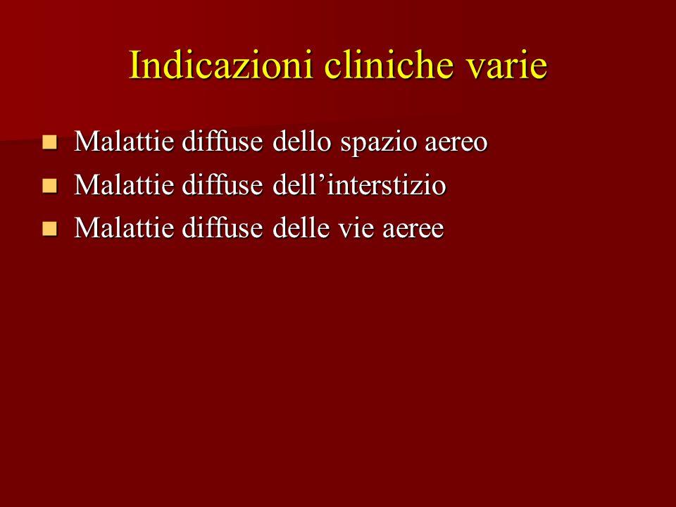 Malattie diffuse dello spazio aereo Malattie diffuse dello spazio aereo Malattie diffuse dellinterstizio Malattie diffuse dellinterstizio Malattie dif