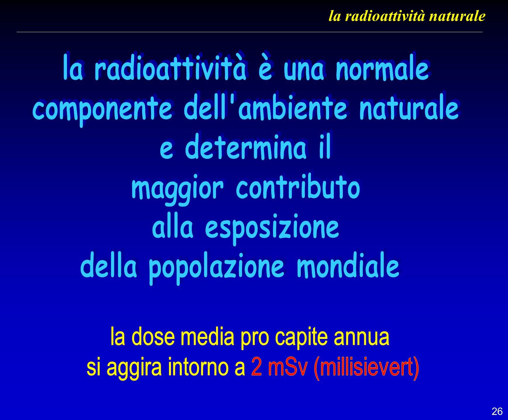 26 la radioattività naturale