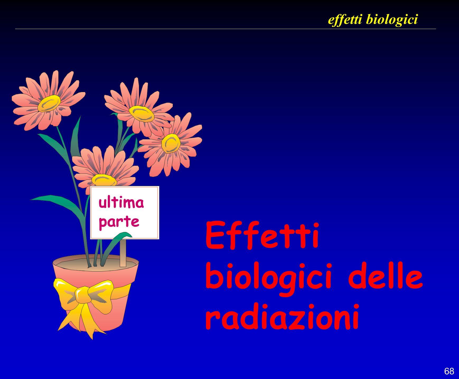 68 effetti biologici Effetti biologici delle radiazioni ultima parte