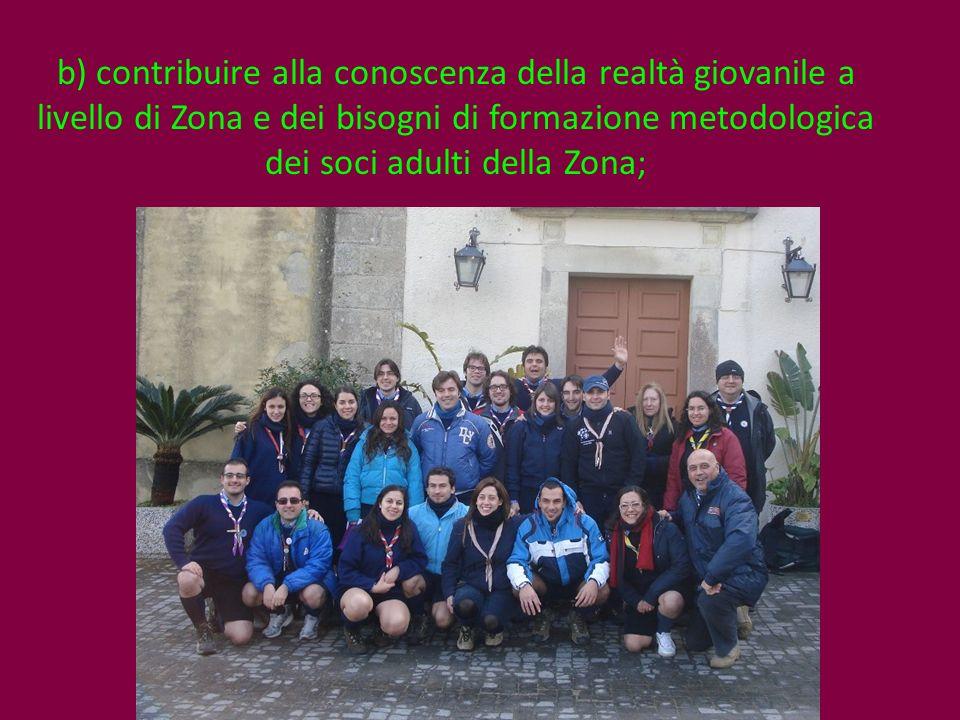 c) coordinare le attività della Branca di Zona;