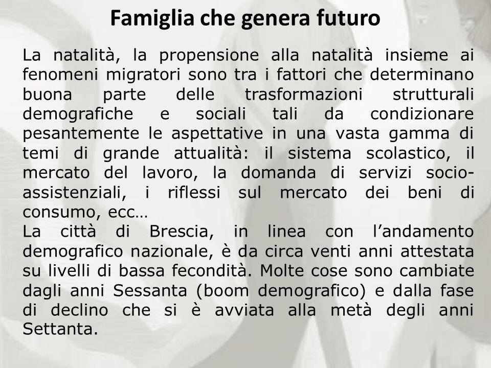 Famiglia che genera futuro La natalità, la propensione alla natalità insieme ai fenomeni migratori sono tra i fattori che determinano buona parte dell
