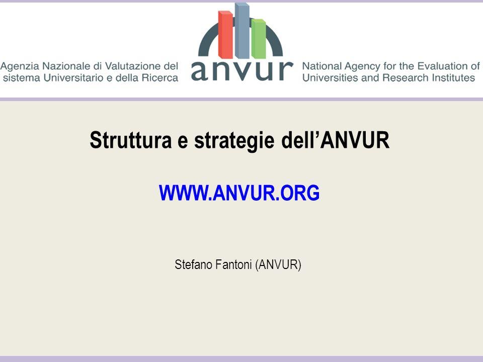 Struttura e strategie dellANVUR WWW.ANVUR.ORG Stefano Fantoni (ANVUR)
