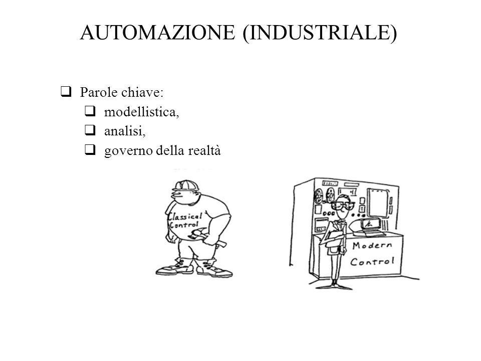 AUTOMAZIONE (INDUSTRIALE) Parole chiave: modellistica, analisi, governo della realtà