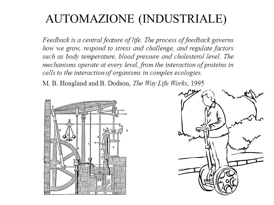 AUTOMAZIONE (INDUSTRIALE) Feedback is a central feature of life. The process of feedback governs how we grow, respond to stress and challenge, and reg