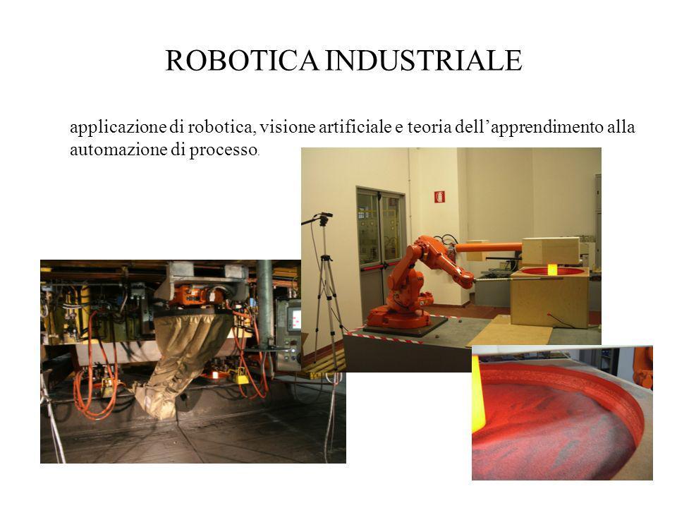 ROBOTICA INDUSTRIALE applicazione di robotica, visione artificiale e teoria dellapprendimento alla automazione di processo.