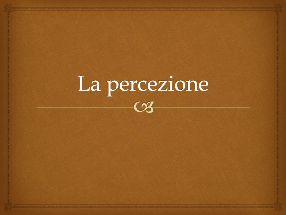 Dal senso comune alla psicologia Qual è la nostra idea «ingenua» di percezione.