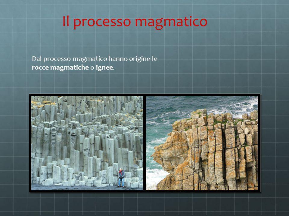 Dal processo magmatico hanno origine le rocce magmatiche o ignee. Il processo magmatico