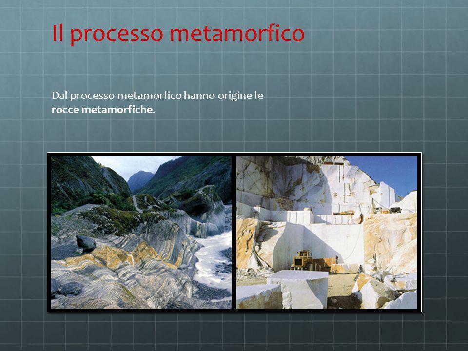 Dal processo metamorfico hanno origine le rocce metamorfiche. Il processo metamorfico