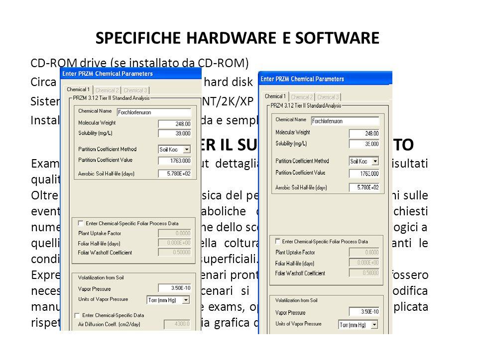 SPECIFICHE HARDWARE E SOFTWARE CD-ROM drive (se installato da CD-ROM) Circa 115 MB di spazio libero su hard disk Sistema operativo Windows 9x/NT/2K/XP Installazione relativamente rapida e semplice Exams e przm richiedono input dettagliati al fine di ottenere risultati qualitativamente elevati.