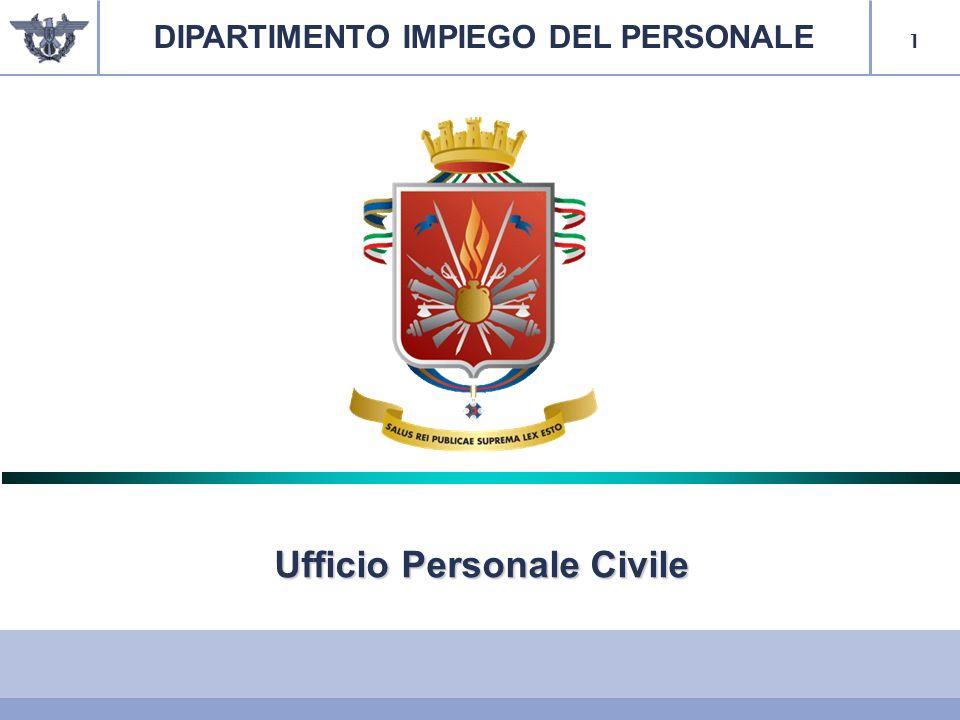 1 Ufficio Personale Civile DIPARTIMENTO IMPIEGO DEL PERSONALE
