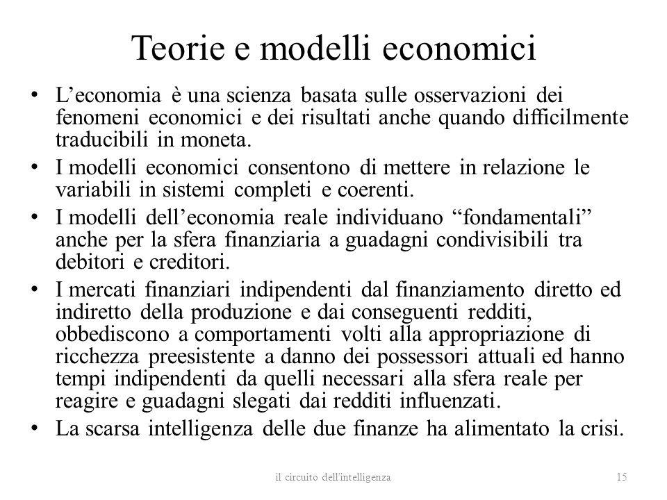 Teorie e modelli economici Leconomia è una scienza basata sulle osservazioni dei fenomeni economici e dei risultati anche quando difficilmente traduci