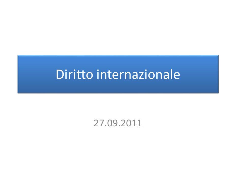 Diritto internazionale 27.09.2011