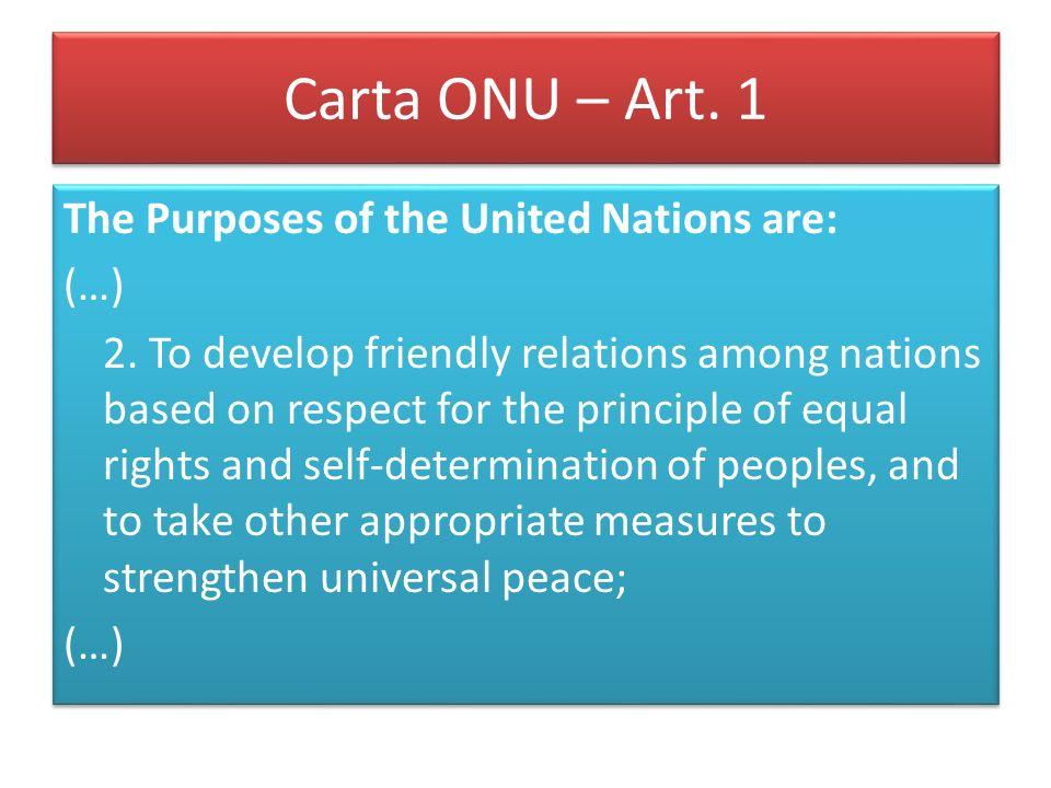 Patto sui diritti civili e politici,1966 Art.1 1.