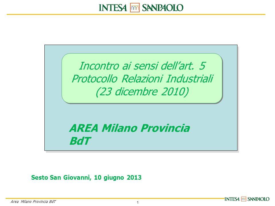 1 Area Milano Provincia BdT Incontro ai sensi dellart.