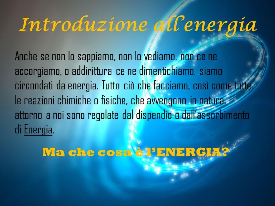 La parola «Energia» deriva dal greco « ΈνΕΡγΕια », termine introdotto in filosofia da Aristotele, composto da en(particella intensiva), e ergon(capacità di agire) e la definiamo come «la capacità di un sistema fisico di compiere un lavoro».