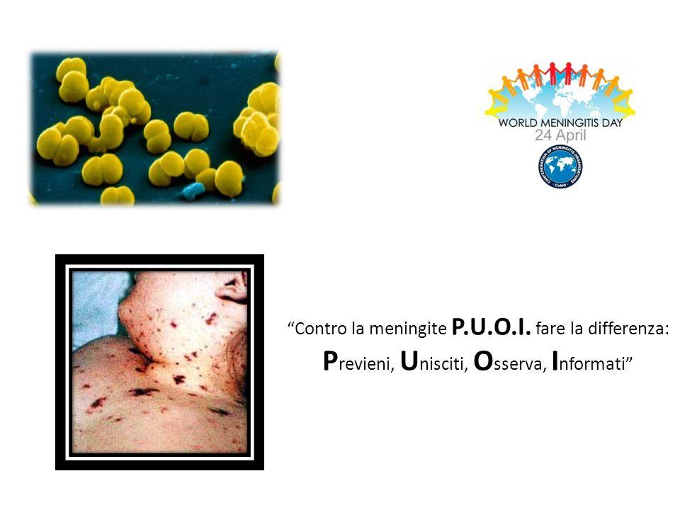 Contro la meningite P.U.O.I. fare la differenza: P revieni, U nisciti, O sserva, I nformati