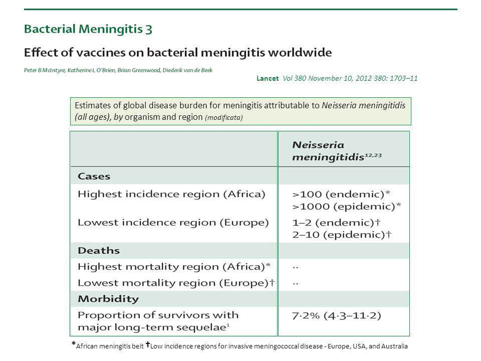 Neisseria meningitidis: sierogruppo per gruppo di età e anno (2007-2013)