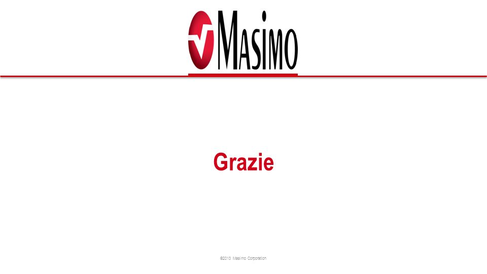 ©2013 Masimo Corporation Grazie