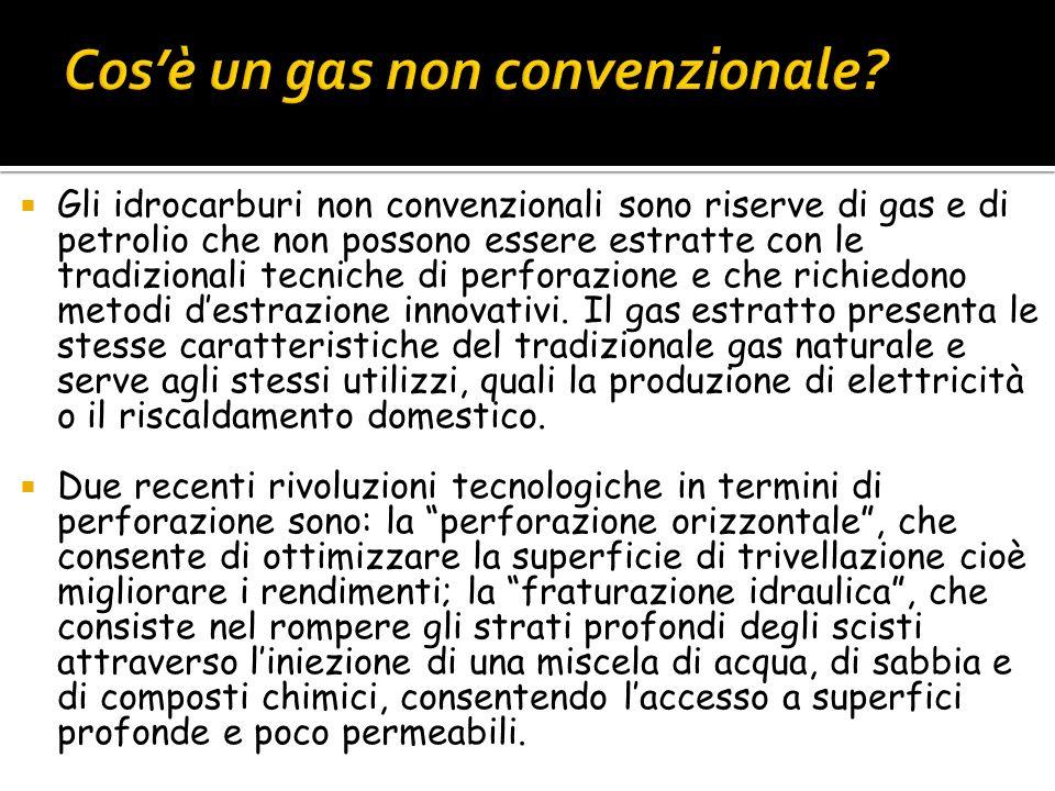 Gli idrocarburi non convenzionali sono riserve di gas e di petrolio che non possono essere estratte con le tradizionali tecniche di perforazione e che