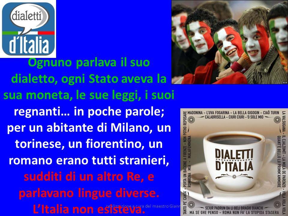 realizzazione a cura del maestro Gianni5 Oggi l Italia è disunita ed oppressa.