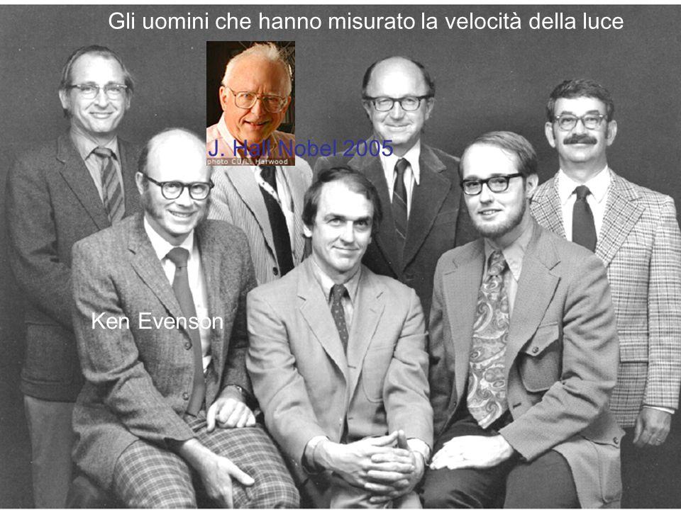 Gli uomini che hanno misurato la velocità della luce J. Hall Nobel 2005 Ken Evenson