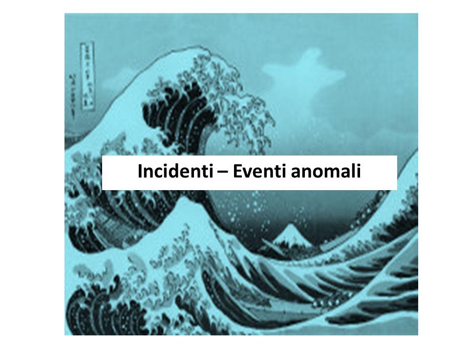 Incidenti – Eventi anomali