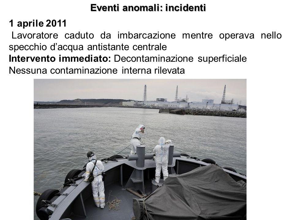 1 aprile 2011 Lavoratore caduto da imbarcazione mentre operava nello specchio dacqua antistante centrale Intervento immediato: Decontaminazione superf