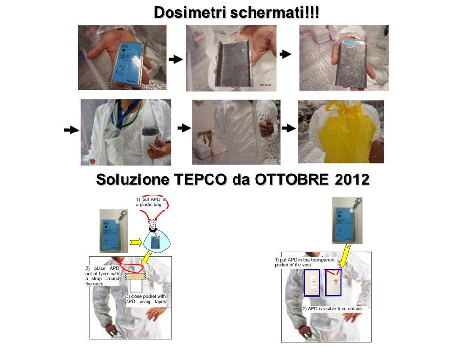 Dosimetri schermati!!! Soluzione TEPCO da OTTOBRE 2012
