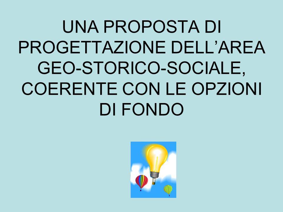 UNA PROPOSTA DI PROGETTAZIONE DELLAREA GEO-STORICO-SOCIALE, COERENTE CON LE OPZIONI DI FONDO