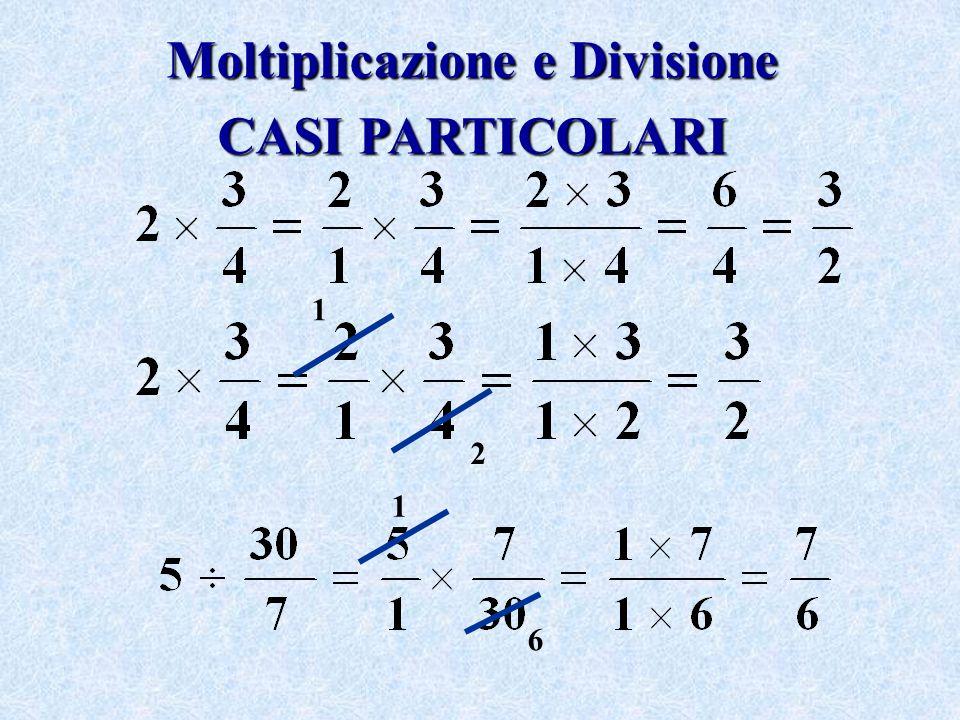 Moltiplicazione e Divisione CASI PARTICOLARI 2 1 1 6