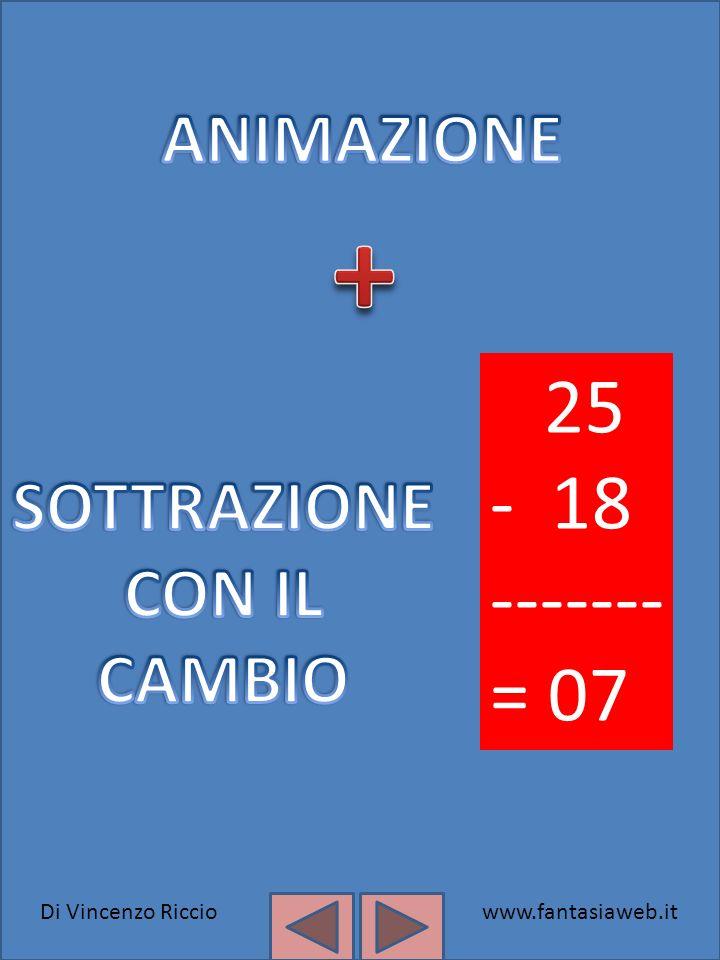 Di Vincenzo Ricciowww.fantasiaweb.it 25 - 18 ------- = 07