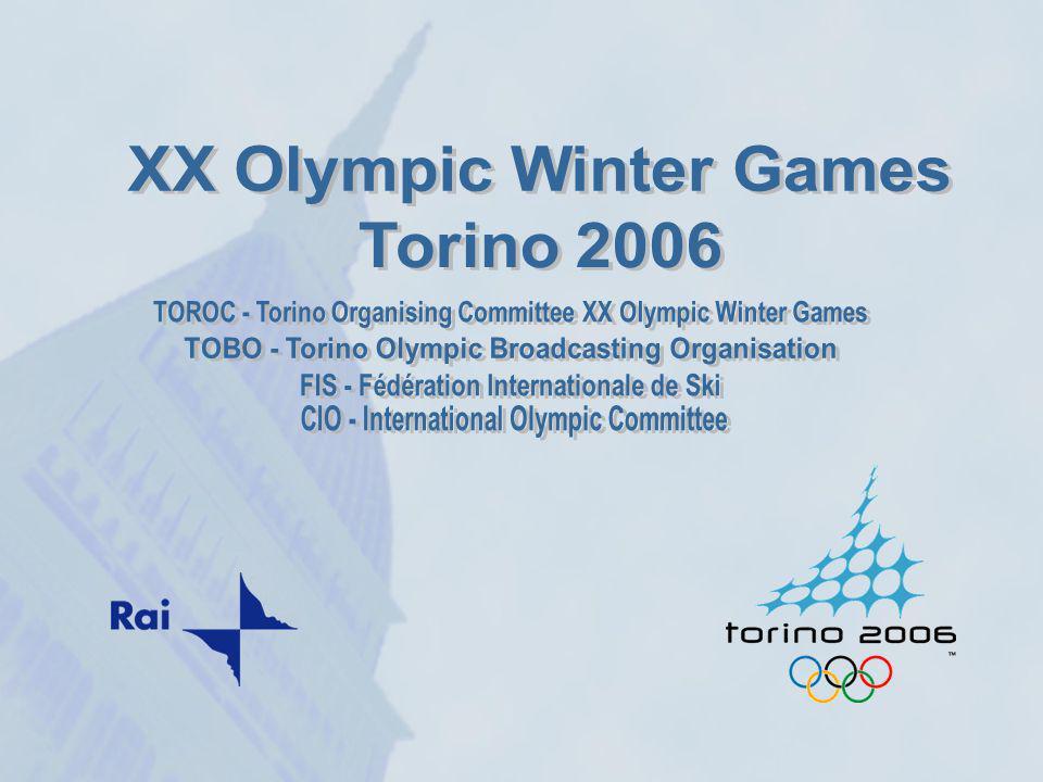 Torino, prima Capitale dItalia, città darte e cultura, stile e design, ospiterà dal 10 al 26 Febbraio 2006, le XX Olimpiadi Invernali, levento prevede 17 giorni di gare 85 paesi partecipanti 5.000 atleti e tecnici 10.000 giornalisti 1,5 milioni di spettatori 4 miliardi di contatti televisivi Torino, prima Capitale dItalia, città darte e cultura, stile e design, ospiterà dal 10 al 26 Febbraio 2006, le XX Olimpiadi Invernali, levento prevede 17 giorni di gare 85 paesi partecipanti 5.000 atleti e tecnici 10.000 giornalisti 1,5 milioni di spettatori 4 miliardi di contatti televisivi
