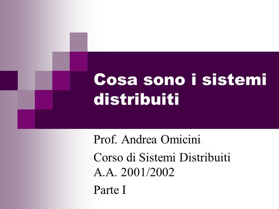 Cosa sono i sistemi distribuiti Prof. Andrea Omicini Corso di Sistemi Distribuiti A.A. 2001/2002 Parte I