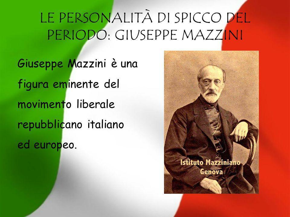 GIUSEPPE GARIBALDI Giuseppe Garibaldi, repubblicano e di simpatie socialiste, un eroico ed efficace combattente per la libertà in Europa e in Sud America.