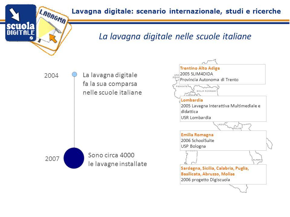 La lavagna digitale nelle scuole italiane 2004 La lavagna digitale fa la sua comparsa nelle scuole italiane 2007/08 Sono circa 4000 le lavagne install