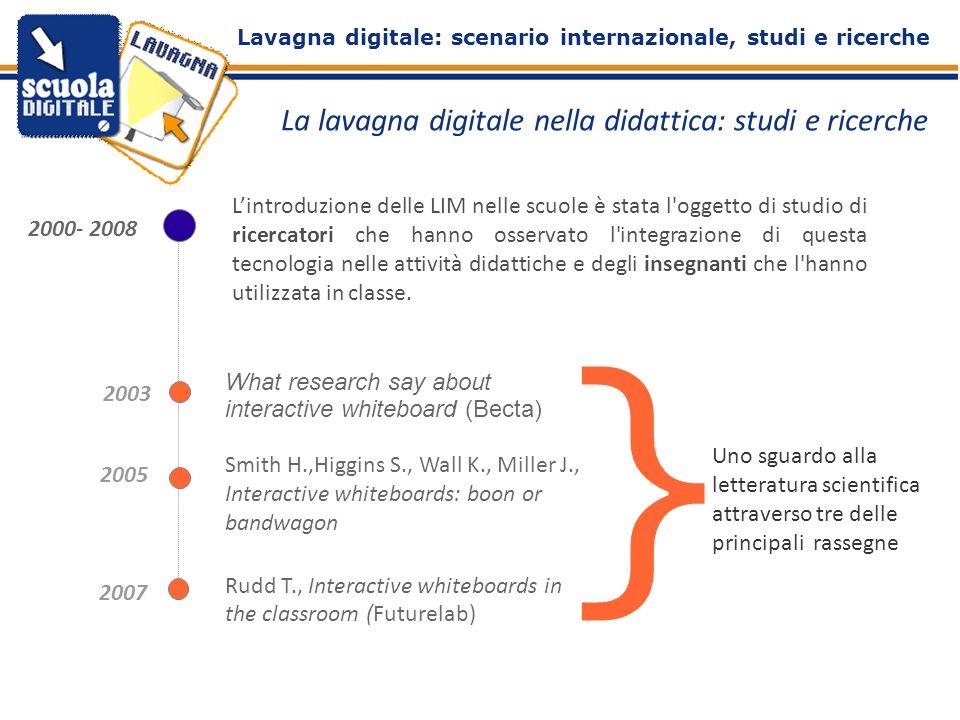 La lavagna digitale nella didattica: studi e ricerche Lintroduzione delle LIM nelle scuole è stata l'oggetto di studio di ricercatori che hanno osserv