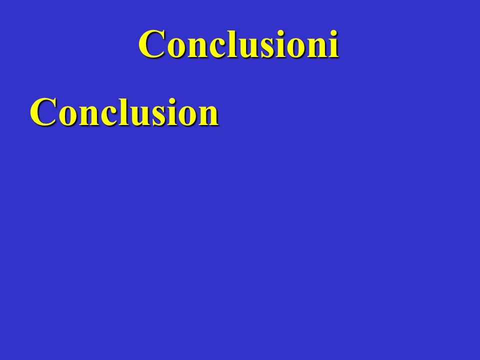 Conclusioni Conclusion
