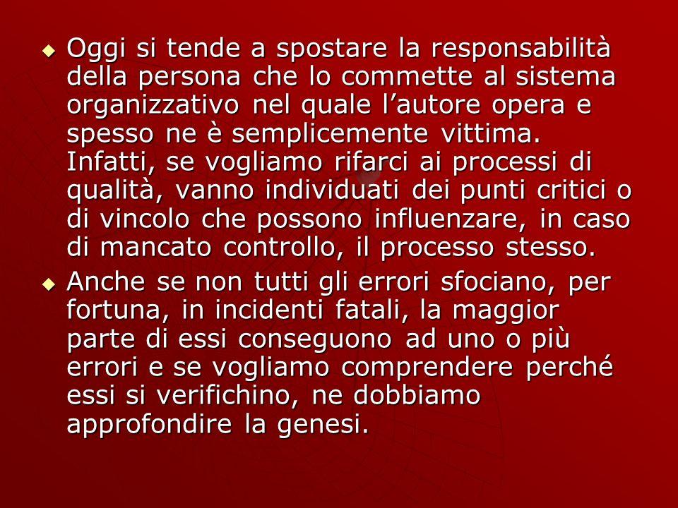 Oggi si tende a spostare la responsabilità della persona che lo commette al sistema organizzativo nel quale lautore opera e spesso ne è semplicemente vittima.