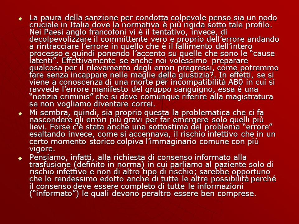 La paura della sanzione per condotta colpevole penso sia un nodo cruciale in Italia dove la normativa è più rigida sotto tale profilo.