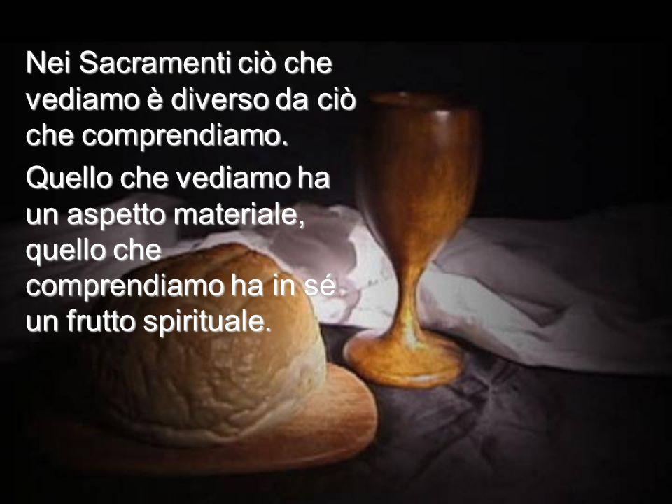 Come può essere Suo Corpo il pane, e in che modo nel calice è contenuto il Suo Sangue?