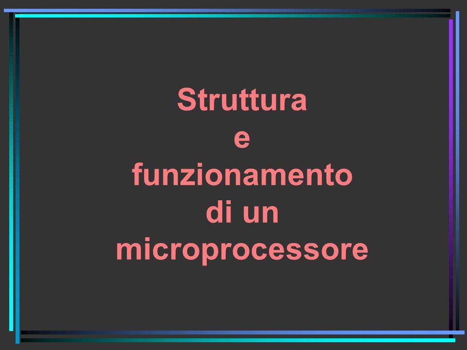 Struttura e funzionamento di un microprocessore