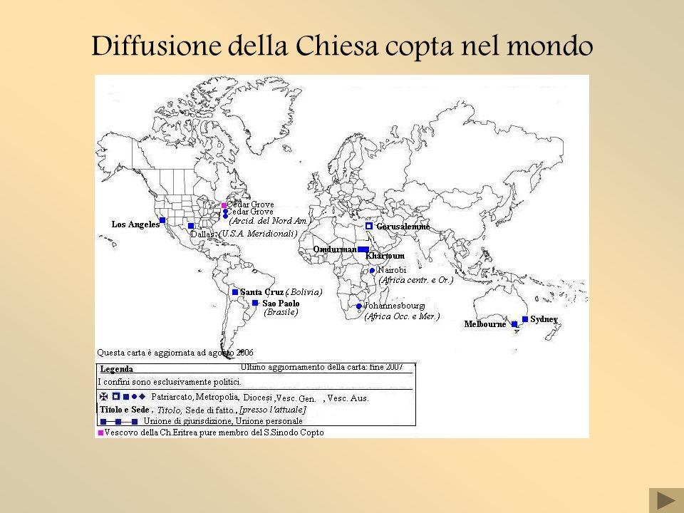Diffusione della Chiesa copta nel mondo